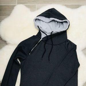 NWOT Double Hood Sweatshirt, Herringbone